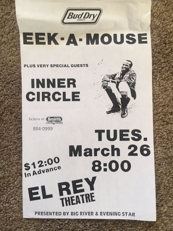EEK A MOUSE CONCERT POSTER