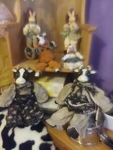 Porcelain farm yard animal dolls, $10 each Penrith Penrith Area Preview