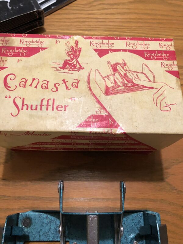 Vintage Kingsbridge Canasta Card Shuffler In Original Box