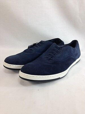 NEW Zara Man Shoes Oxfords Fashion Sneakers Mens 11 Blue Suede Leather Lace Up