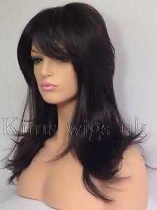 FULL-WOMENS-LADIES-HAIR-WIG-DARK-BROWN-FLICKED-LAYERED-LONG-B95-KIMS-WIGS-UK