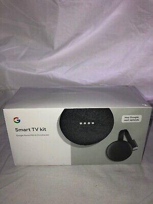 Google Smart TV Kit (Google Home Mini + Chromecast) New, Free Shipping  Sealed
