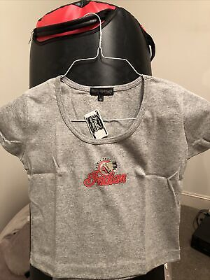 GENUINE INDIAN MOTORCYCLE BRAND T-SHIRT Baby TEE WOMENS Gray - Large
