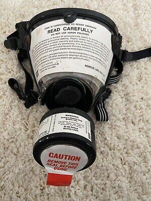 Scott Safety Full Face Respirator Scott O Vista Ago Gas Mask Face. No Cannister