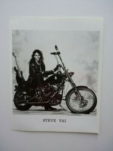 Vintage Steve Vai Whitesnake B&W Press Kit  8x10 Promo Photo Picture #3