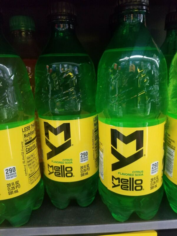 🔥holiday😎price🔥 6x 20oz Mello Yello Bottles mello yellow