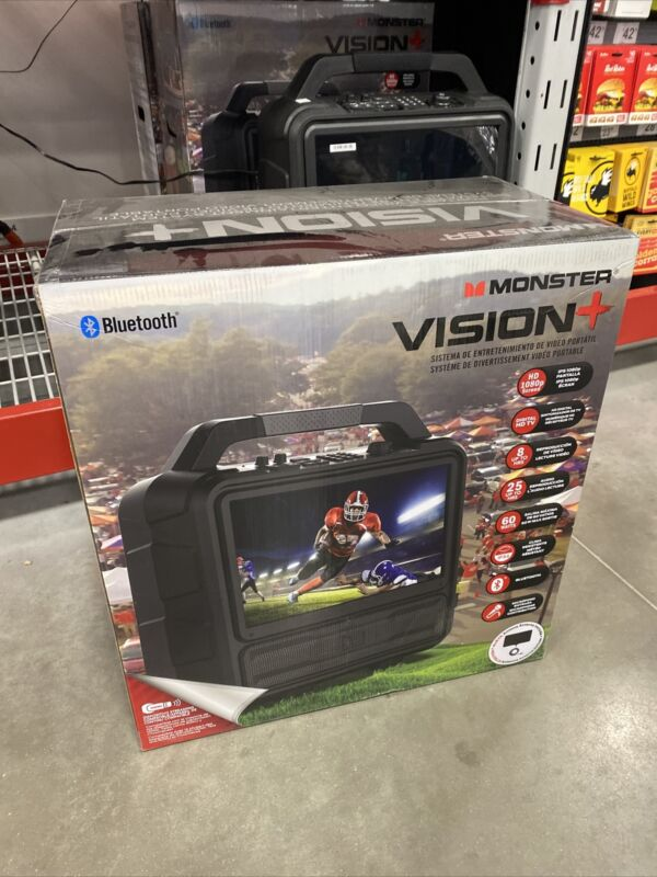 Monster MNVISION-plus Vision Portable Entertainment System Brand New