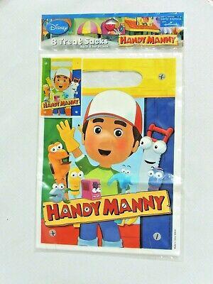 NEW   HANDY MANNY 8- PLASTIC TREAT BAGS-  9