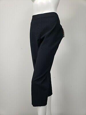STYLE & CO Pull On Mid Rise Stretch Capri Pants sz 16W Black NWT $56.50