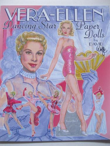 VERA-ELLEN Hollywood Dancing Star Paper Doll Book--3 Dolls w/ 25 Movie Costumes