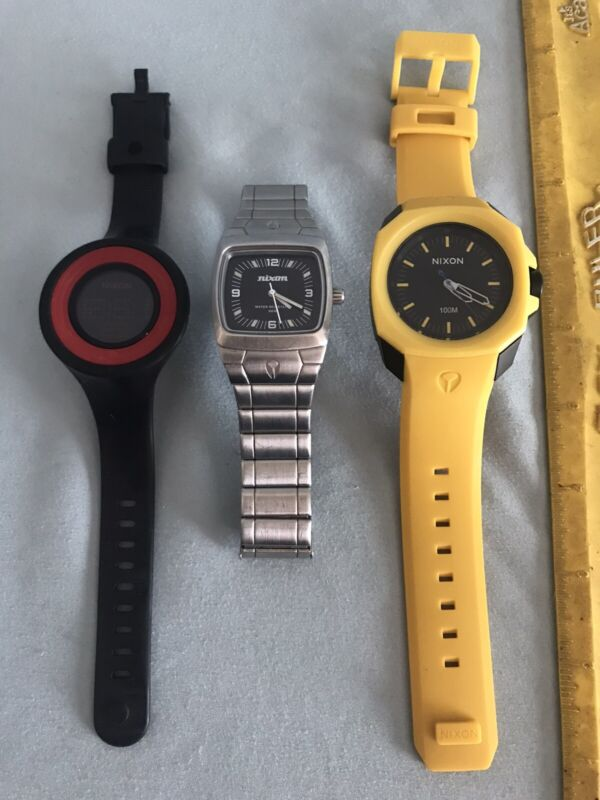 Lot Of 3 Used Nixon Watches
