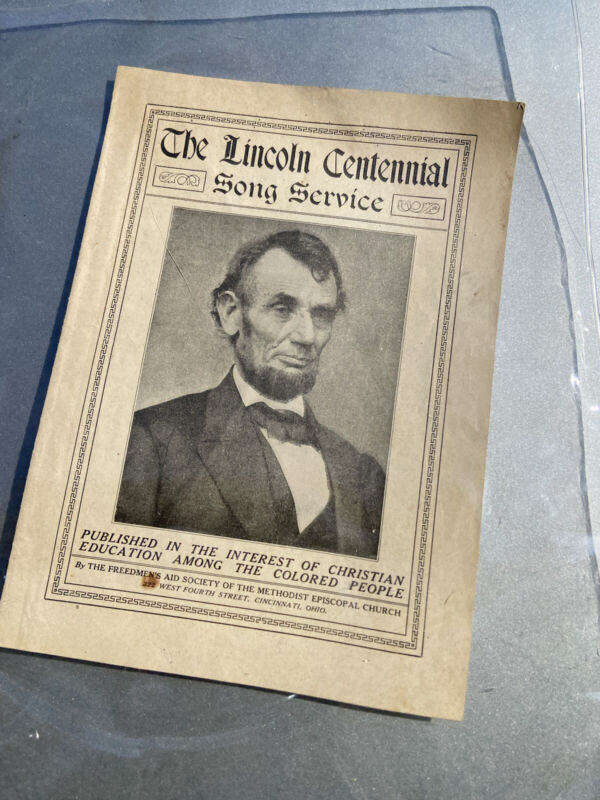 Vintage Abraham Lincoln The Lincoln Centennial Song Service Pamphlet