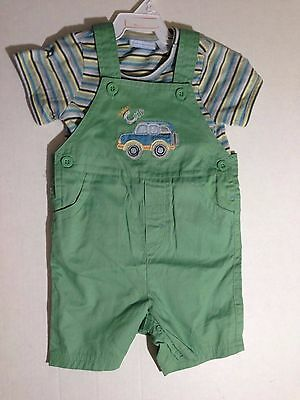 First Impressions 2 piece Outfit Clothing Baby Infant Safari Car Green 18 - Baby Safari Outfit