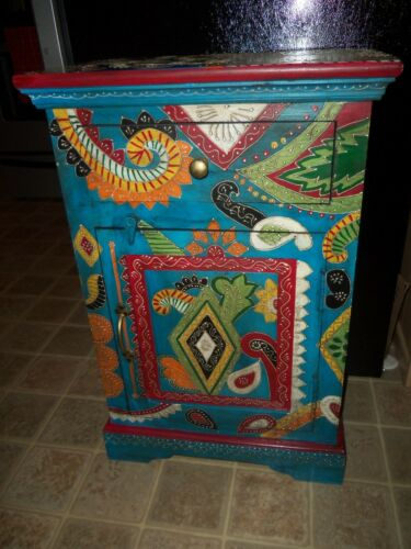 Beautiful Ornate Bohemian Cabinet from India WOW LOOK!