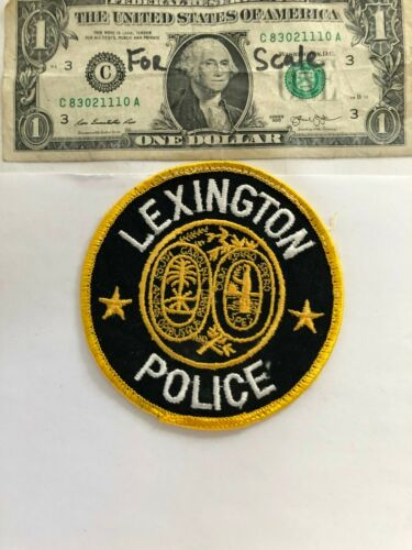 Rarer Lexington South Carolina Police Patch pre-sewn good shape