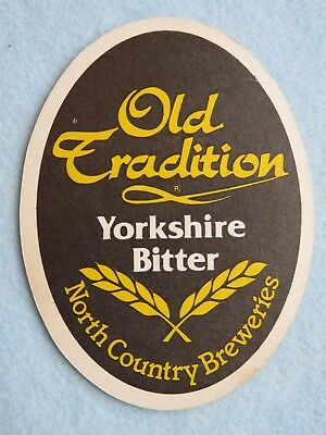 Yorkshire Bitter - Beer Coaster ~ Old Tradition Yorkshire Bitter ~ North Country Breweries, ENGLAND