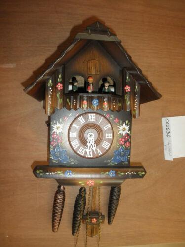 Cuckoo Clock German NIGHT SHUT OFF SEE VIDEO Musical Chalet 1 Day CK2636