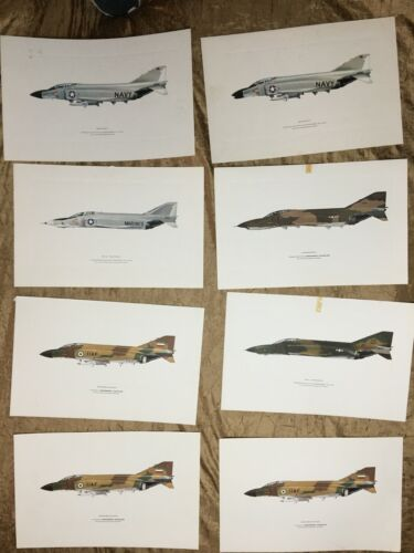 "Set of Planes Vintage McDonnell Douglas Lithograph Prints 17""x11"" NOT Framed"