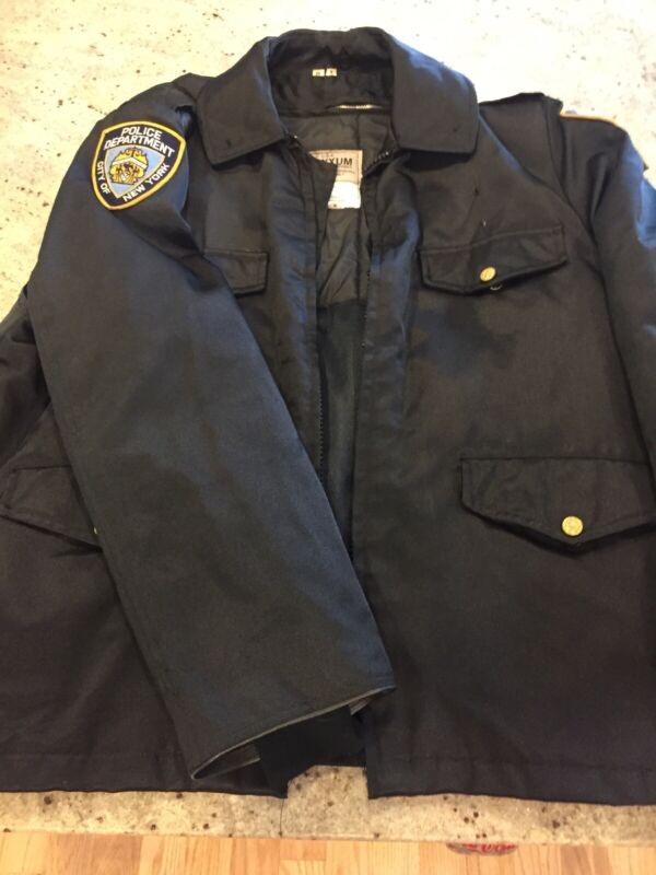 Authentic Vintage NYPD Coat 46R W/ ZIP Out Liner ~ New York Police Uniform