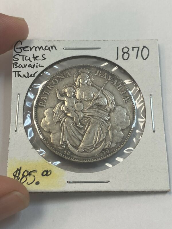 1870 German States Bavaria Thaler