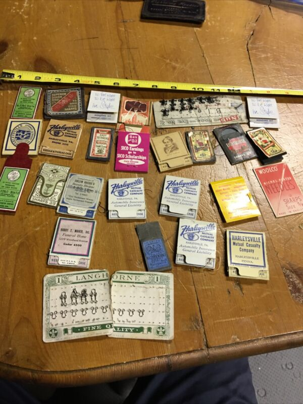 Vintage Lot of Approximately 20+Needle & Thread Cases - Various Locations.