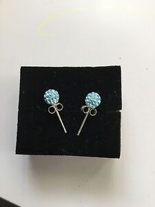 baby blue crystal stud earrings Castle Hill The Hills District Preview