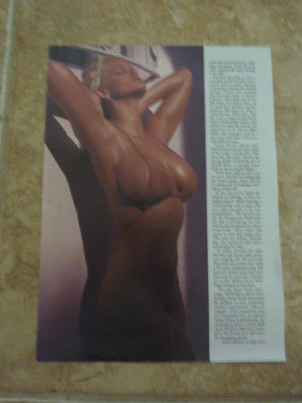 Anna Nicole Smith Color 8x10 Magazine Page Photo Promo Picture Sexy Hollywood #2