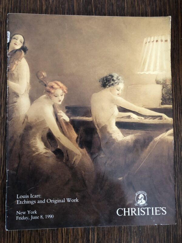 Rare Christie's Auction Catalog Louis Icart: Etchings And Original Work