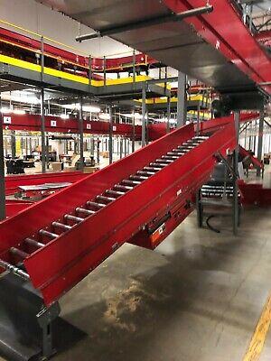 Intelligrated Powered Belt Conveyor System - Motor Drive With Roller Conveyor