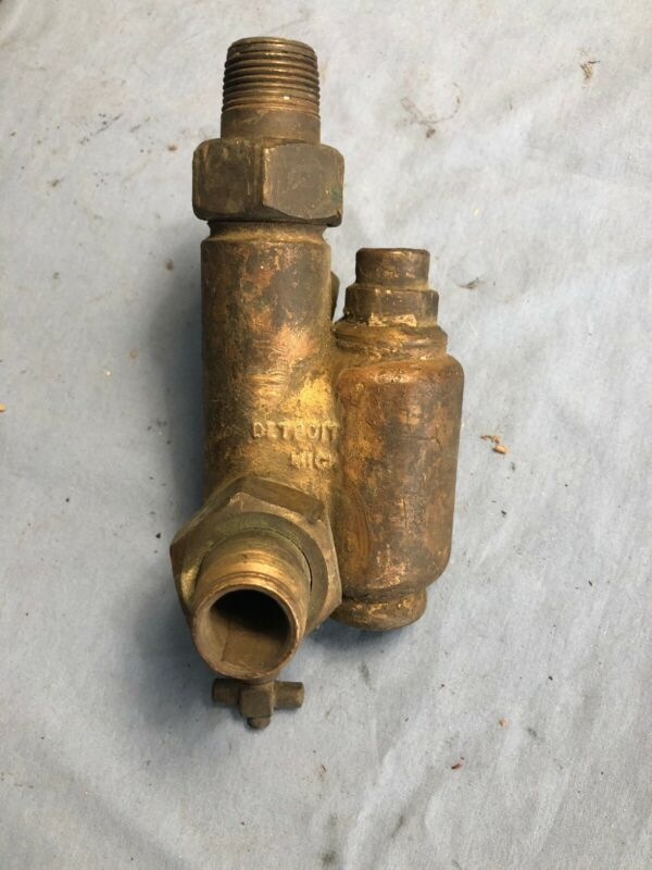 "Antique 3/4"" Detroit #5 Steam Boiler Injector Traction Engine Penberthy"