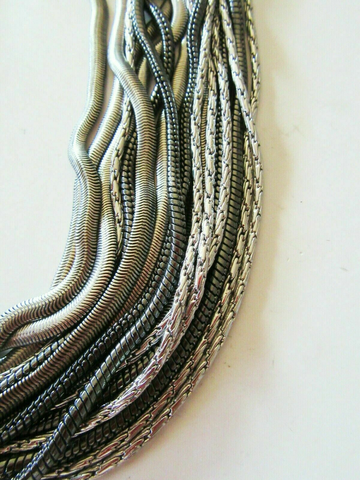 Lia Sophia Kiam Family Jewelry Multi-Strand Chain Crystals Necklace RV 220 - $5.50