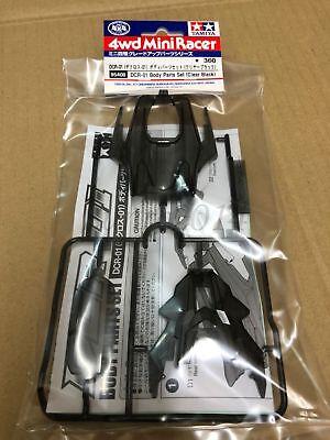 Tamiya 95408 1/32 Mini 4WD JR DCR-01 Body Parts Set (Clear Black) (Mini 4wd Parts)