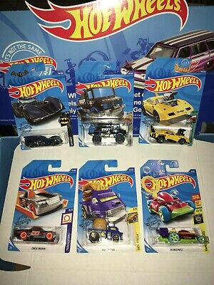 LOT OF (6) TREASURE HUNT HOT WHEELS,NEW 2020,DODGE CHARGER DAYTONA,BATMAN+ MORE