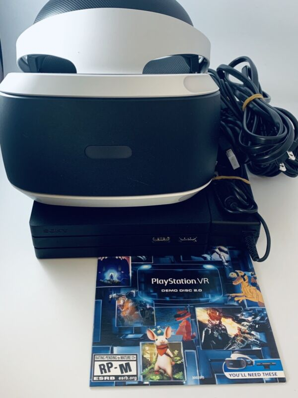 Sony PlayStation VR PS4 Virtual Reality Headset CUH-ZVR2 Bundle W/ Game