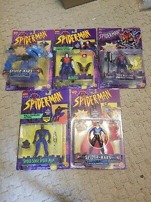 Toybiz 94/95 Spiderman Animated Series Lot (5) Morbius, Hydro Man, Spiderman...