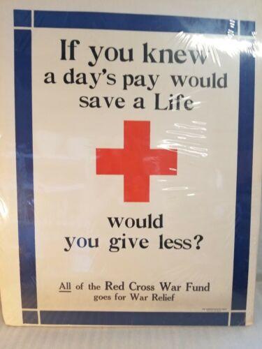 True Original Vintage Red Cross Poster - Pre-1920