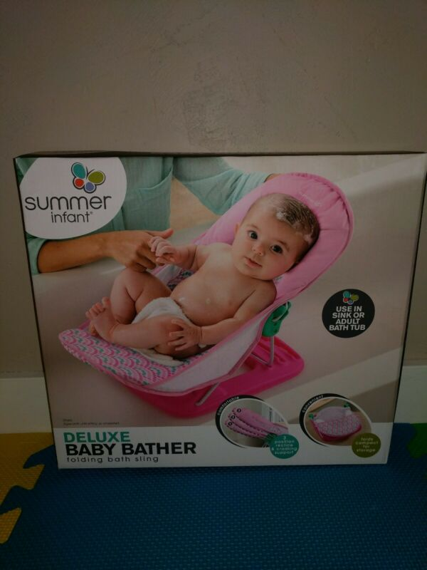 Summer Infant Deluxe Baby Bather Pink 09585 New Open Box
