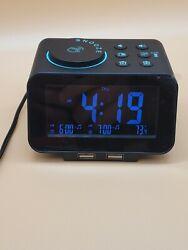 USCCE DigitalAlarm Clock Radio - USB, Dimmer, Dual Alarm with Weekday/Weekend