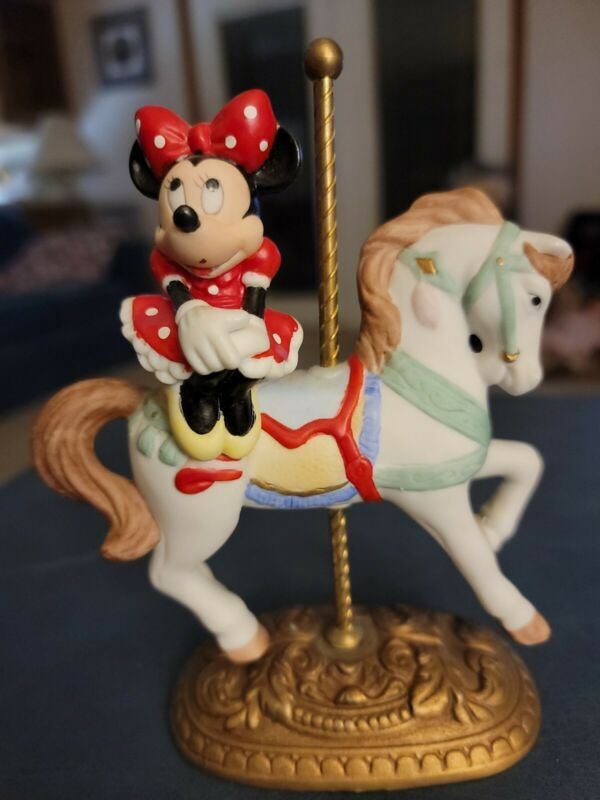 New England Collector's Society MINNIE MOUSE Carousel Horse Figure NIB