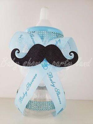 Little Man Mustache Centerpiece Bottle Large Baby Shower  It's a Boy  Piggy Bank
