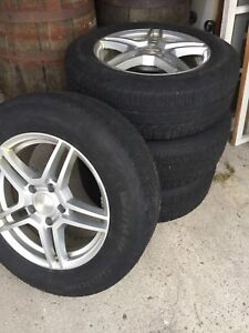 Set of Winter 4 tires, alloy RSSW rims 225/65R17 with sensors
