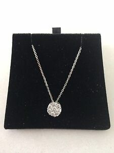 Brand new 18 Carat white gold,0.48 Ct G grade diamonds ladies necklace Ascot Brisbane North East Preview