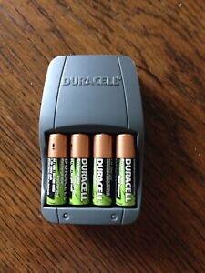 AA Battery Charger + 4 AA Rechargeable Batteries