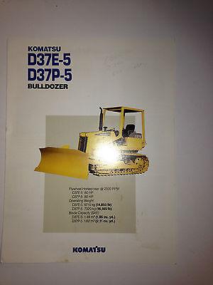 Komatsu D37e-5 Crawler Dozer Sales Brochure Specifications.