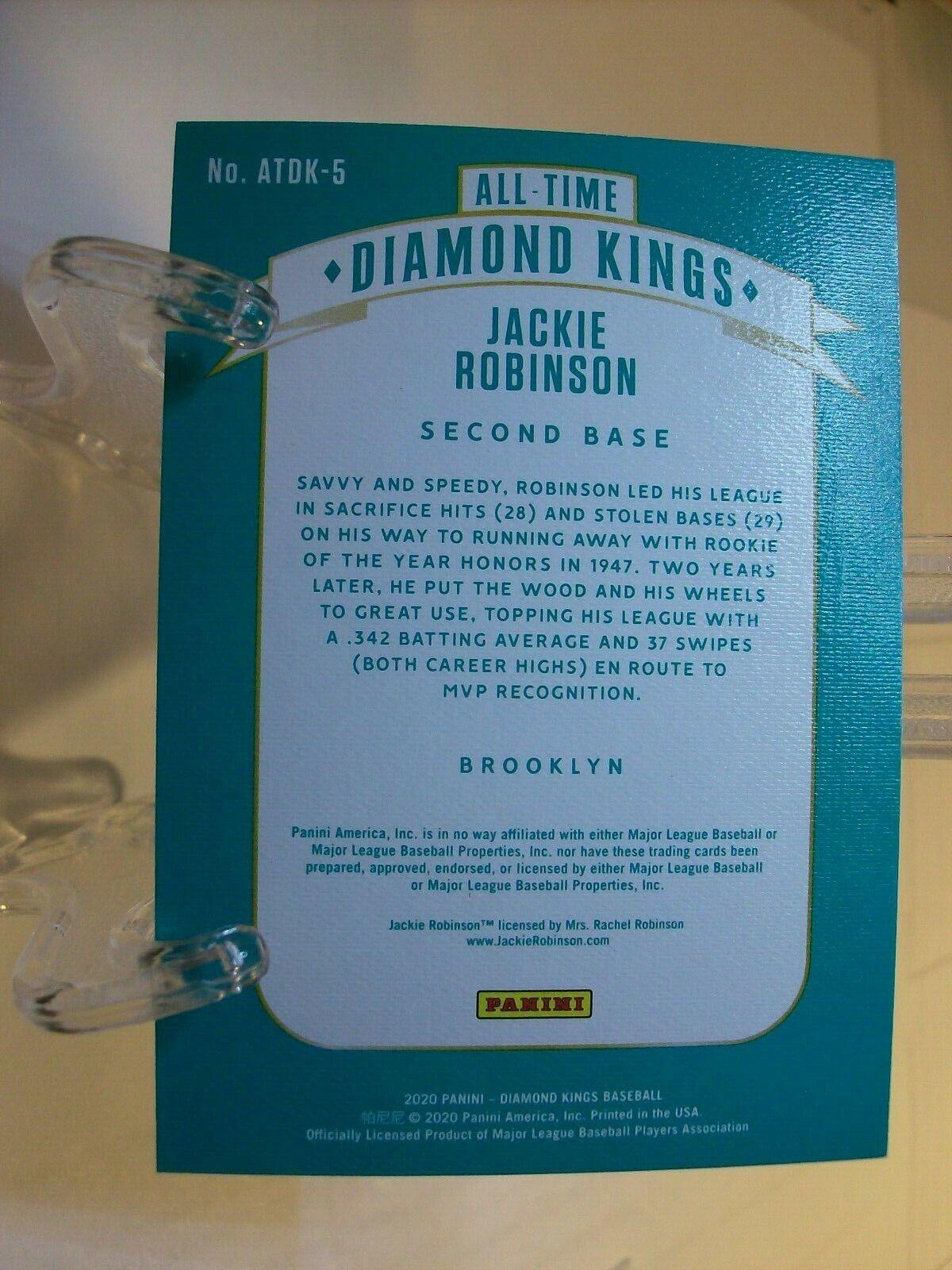 2020 Panini Diamond Kings All-Time Diamond Kings ATDK-5 Jackie Robinson 66269  - $2.33