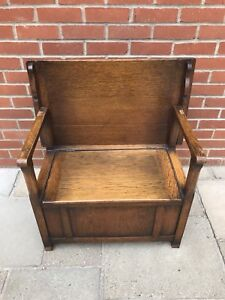 Wooden Monks bench / Seat / Table with Storage