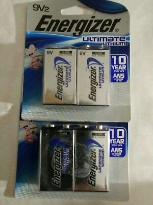 4 Count Energizer Ultimate 9V Lithium Batteries