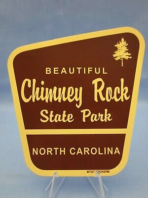 """BEAUTIFUL CHIMNEY ROCK STATE PARK NORTH CAROLINA NC - SOUVENIR STICKER / DECAL"