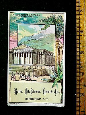 1870s-80s Burke, Fitz Simons, Hone & Co, Silk Linen Lace, Temple Of Diane F27