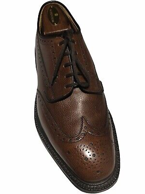 Church's Men's Brown Pebble Grain Leather Wingtip Brogue Derby's - 7.5G/UK 8.5US